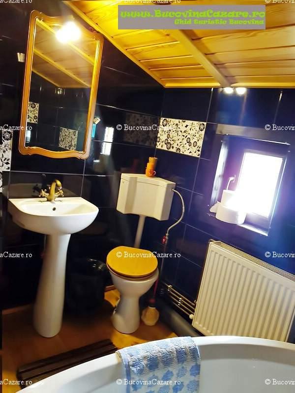 Pensiunea Orhideea - Cazare Bucovina, Cazare Gura Humorului - Interior camera triplă superioară baie 2