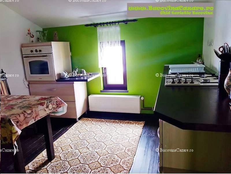 Pensiunea Orhideea - Cazare Bucovina, Cazare Gura Humorului - Interior camera triplă superioară bucătărie 1
