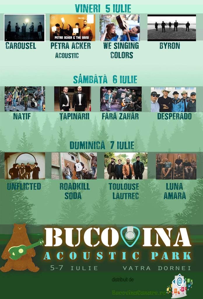 Bucovina Acoustic Park 2019 - Vatra Dornei, Suceava, Bucovina - Program complet festival Bucovina Acoustic Park 05-07 iulie 2019